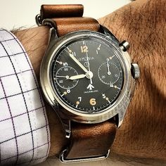 Elite hand-picked range of luxury Swiss young adult designer watches. Dream Watches, Luxury Watches, Cool Watches, Watches For Men, Vintage Military Watches, Vintage Watches, Mens Toys, Watch Brands, Fashion Watches
