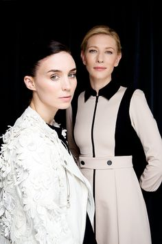 Rooney Mara and Cate Blanchett photographed by Fabrizio Maltese