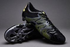 uk availability e1ff6 2a64f adidas X 15.1 FG AG Leather - Core Black Solar Yellow Night Metallic