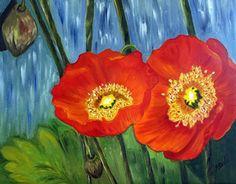Poppies by Heidi Mansion Oil ~  x