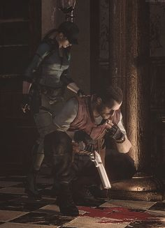 """Its blood. Hope it's not Chris's blood..."" - Barry Burton, best Resident evil character"