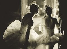 I remember when my friends and  I would peak behind the curtains during my competitions and recitals.