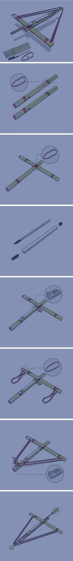 DIY simple and awesome Pencil Crossbow... are you freking kidding me right now!?!??, I made this like 3 years ago!! RIP-OFF wow ... I am just disappointed right now. It's actually called the Tharp!