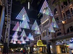 SYDNEY CHRISTMAS LIGHT FOREST WALK PITT ST. mALL