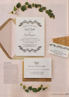 Alecia matt a wedding at the orlo letterpress invitations antiquaria spotted antiquaria stamps in martha stewart real weddings spring 2014 stopboris Image collections