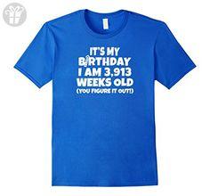 Mens I Am 3,913 Weeks Old - Happy 75th Birthday T Shirts Medium Royal Blue - Birthday shirts (*Amazon Partner-Link)