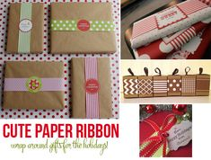 Paper ribbon to decorate holiday presents