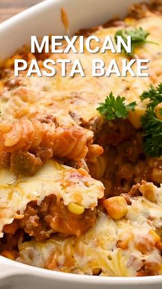 Easy Mexican Casserole, Beef Casserole Recipes, Pasta Casserole, Pasta Bake, Cooking Recipes For Dinner, Ground Beef Recipes For Dinner, Dinner With Ground Beef, Ground Beef Pasta, Mexican Pasta Recipes
