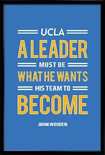 John Wooden UCLA Bruins Inspirational Leader Quote Poster Print | NBA Memorabilia | Wall Art for Basketball Fans Visit our Etsy store for inspirational quotes and jersey art prints of your favourite teams! #inspirational #quote #poster #mancave #fathersday #gift