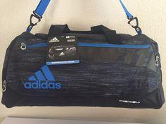 1863c6ab197a2 ADIDAS Team Issue Duffel Medium Men Gym bag luggage Macro heather Black Shock   Adidas