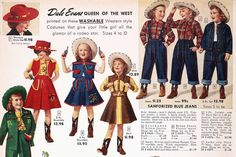 I just got a new pattern in the mail (the Rodeo Gal), so this week I'm gathering inspiration to recreate a vintage inspired western shirt. I'm drawn to the contrasting fabrics and… Vintage Western Wear, Vintage Cowgirl, Cowboy And Cowgirl, Vintage Girls, Cowboy Boot, Vintage Country, Western Style, Vintage Ads, Vintage Designs