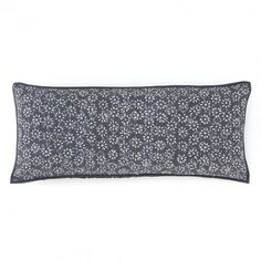 Pine Cone Hill Resist Floral Grey Pillow