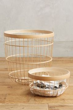 Bamboo Open-Weave Basket | Anthropologie