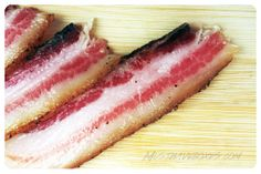 December 2013 Carnivore Club: Pancetta Americano. After being aged for six weeks and cold smoked over hickory wood for eight hours, the Pancetta Americano is ready to be enjoyed. Price: USD $50.00/month -- #snacks #meat #kitchen #charcuterie #jerky #subscriptionbox #foodie #food #carnivoreclub