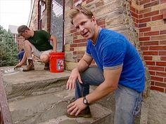 DIY experts show how to repair concrete steps by patching and resurfacing them.