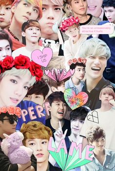 Exo collage made by me :)