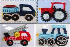 New crochet flowers easy boys Ideas Knit Or Crochet, Crochet Motif, Crochet For Kids, Crochet Flowers, Crochet Toys, Crochet Stitches, Crochet Applique Patterns Free, Knitting Patterns, Crochet Appliques