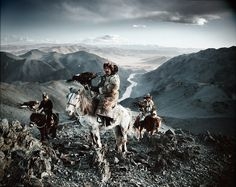 Among many Kazakh traditions is the ancient art of eagle hunting. For more than two centuries, Kazakh men have hunted on horseback with trained golden eagles. Across mountains and steppes, a large variety of animals – including rabbits, marmots, foxes and even wolves – are hunted for their fur, an integral part of traditional Kazakh clothing.