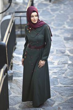 #tesettur #pardesu #fashion #esarp Elite Fashion, Fashion Beauty, Girl Fashion, Fashion Outfits, Fashion Ideas, Islamic Fashion, Muslim Fashion, Modest Fashion, Hijab Chic
