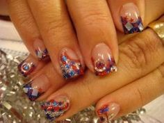 4th of July nails by Artzi409