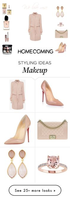 """""""Homecoming"""" by ribeirojuliana on Polyvore featuring Christian Louboutin, Armani Beauty, Alexander McQueen, Chanel, Dina Mackney, Maybelline and Yves Saint Laurent"""