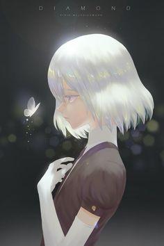 Diamond (Houseki no Kuni) Image - Zerochan Anime Image Board Girls Anime, Cool Anime Girl, Kawaii Anime Girl, Manga Girl, Anime Art Girl, Anime Triste, Anime Oc, Sad Anime, Poses References