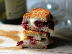 Brie and Roasted Grape Grilled Cheese