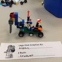 """LEGO Club May 6 Aidan's """"Crusher"""""""
