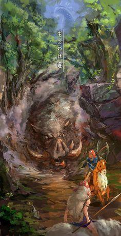 もののけ姫 by lixiaoyaoII  #Manga #Illustration #Anime