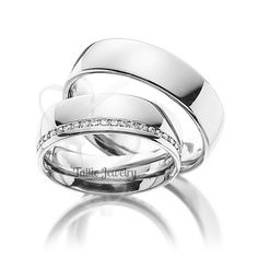 His & Hers Mens Womens Matching 10K White Gold Wedding Bands Rings Set  6mm/6mm Wide  Sizes 4-12  Free Engraving  New by TallieJewelry on Etsy