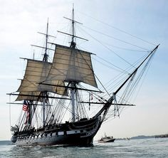 The U.S.S. Constitution is setting its sails for the last time before the warship heads to dry dock for a three-year repair project.