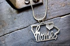 Iowa  My Heart is Home necklace by AnatomicalElement on Etsy, $44.00