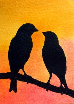 Love Birds Silhouette by MoranArt.deviantart.com on @deviantART