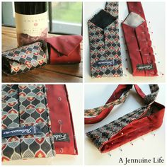 Necktie Wine Tote {Tutorial} - The Girl Creative