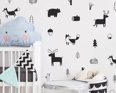 Quality Nordic Style Forest Animal Wall Decals , Woodland Tree Nursery Vinyl Art Wall Stickers Children Room Modern Wall Decor with free worldwide shipping on AliExpress Mobile Animal Wall Decals, Nursery Wall Stickers, Kids Wall Decals, Vinyl Wall Stickers, Vinyl Wall Art, Tree Wall Decals, Modern Wall Decor, Modern Room, Woodland Nursery