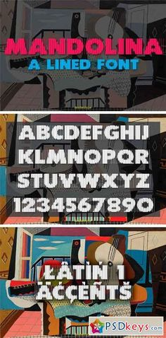Mandolina Lined Font 2038356