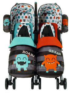 Cosatto Twin Stroller - Cuddle Monster | isme.com