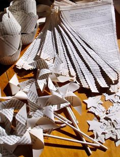 "newspaper wedding decorations | From a ""Library-themed"" birthday party... GREAT ideas that"