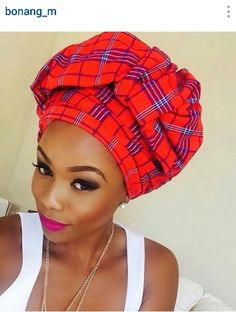 Masai headwrap!!! African fashion.