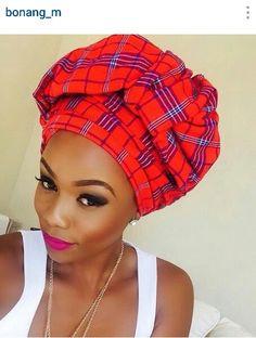 Masai headwrap!!! African fashion.