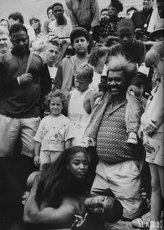 Vogue, December 1989 Naomi Campbell with Mike Tyson and Don King.