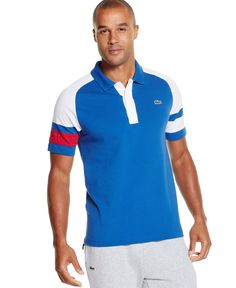 215a075f3 Lacoste Colorblocked Short-Sleeve Polo   Reviews - Polos - Men - Macy s