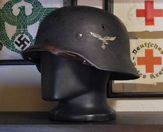 German Helmet, Mumford, Ww2, Riding Helmets, Baseball Hats, Waterfalls, Baseball Caps, Baseball Hat, Snapback Hats