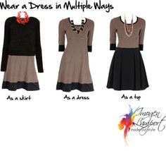 How to be More Versatile with a Capsule Wardrobe - Wear a Dress in Multiple Ways