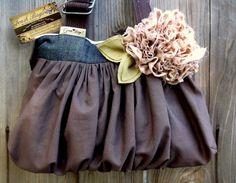 Handmade Denim corduroy Bags | ... UPCYCLED DENIM/ CREAM MICRO-CORDUROY / NAVY/RED BELT SHOULDER/ HANDBAG