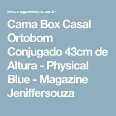 Cama Box Casal Ortobom Conjugado 43cm de Altura - Physical Blue - Magazine Jeniffersouza