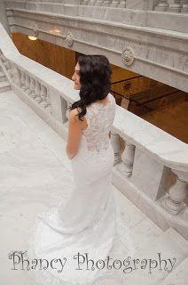 Bridal shoot at the Utah Capital building