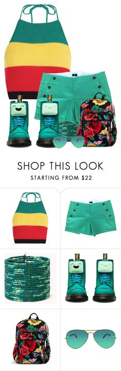 """""""Colored Boots"""" by swimwearlover ❤ liked on Polyvore featuring Boohoo, J.Crew, Forever 21, Dr. Martens, Vera Bradley and Ray-Ban"""
