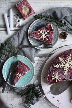 Rezept Beerenkuchen mit Quarkcreme und Keksboden Verwertung von Weihnachtsplätzchen und Keksen. Mehr Rezepte und Ideen für Kuchen findest du auf meinem Blog.