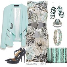 """""""Feather Swirl Floral Print Sheath Dress"""" by pwhiteaurora on Polyvore ~ created 7-3-14"""